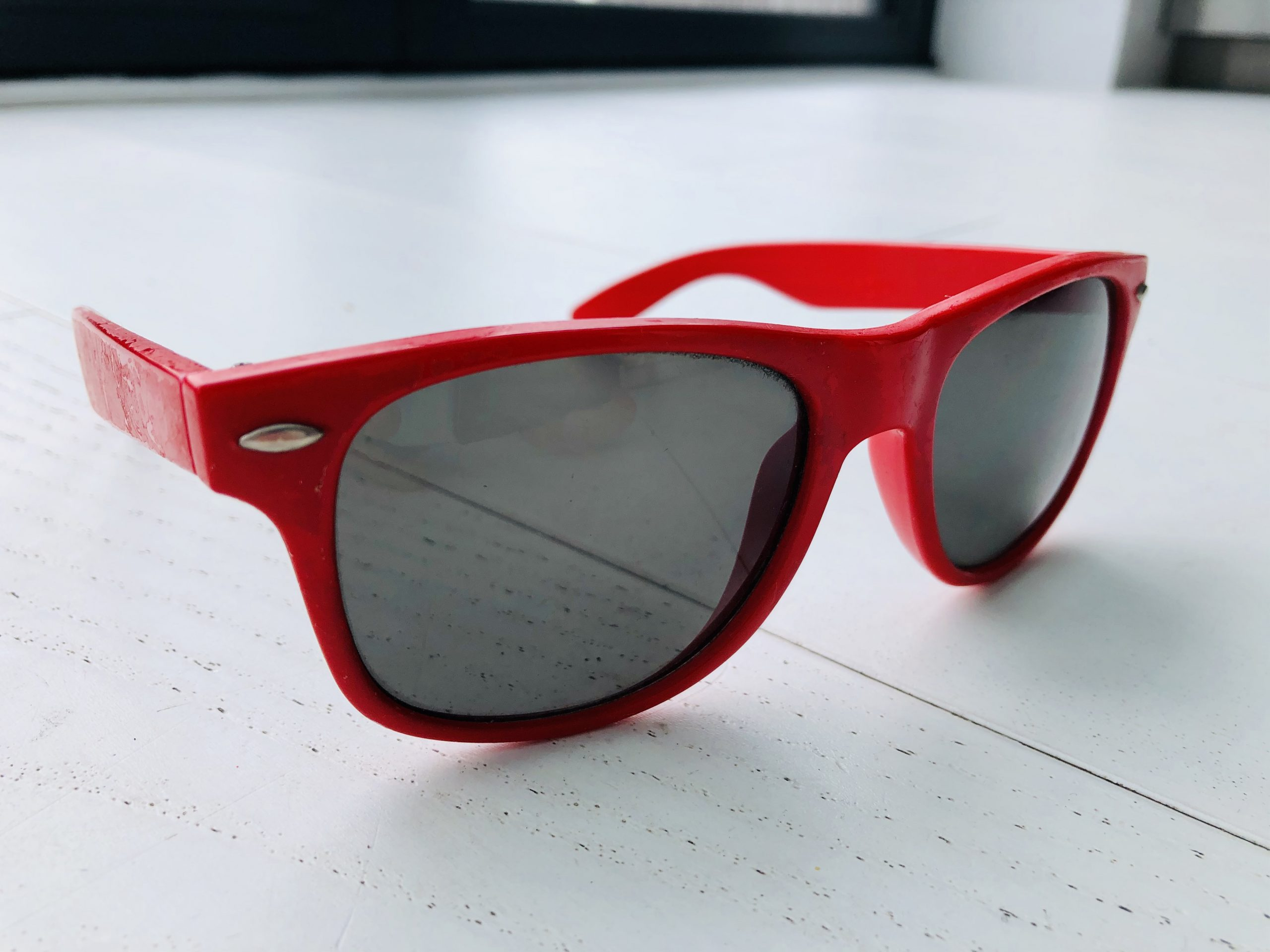 Why I wear red sunglasses